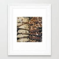 Almond Cookies - Food Kitchen Photography Framed Art Print