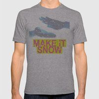 make it snow Mens Fitted Tee Athletic Grey SMALL