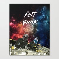 Fett Punk Canvas Print
