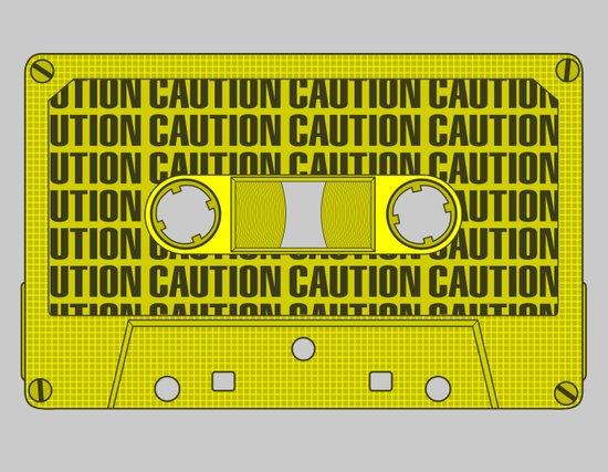 Caution Tape Canvas Print