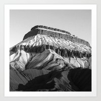 MT Garfield Dust B/W Art Print