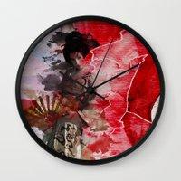 Geisha's Delight Wall Clock