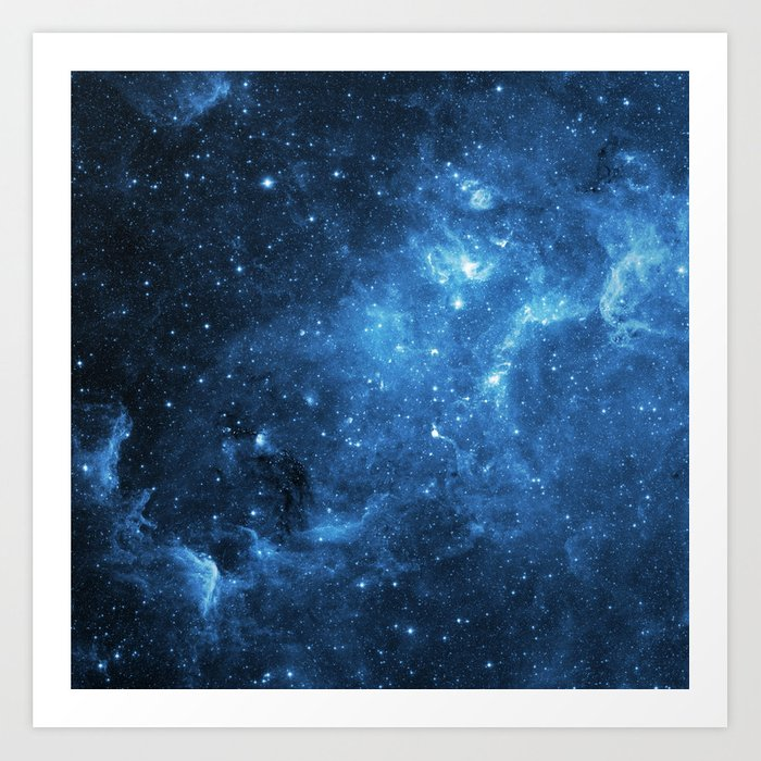 Sunday's Society6 | Galaxy blue space art print