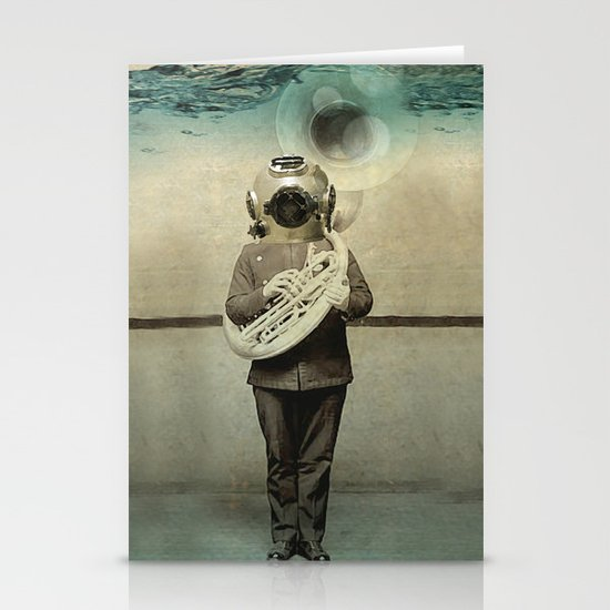 the diving bell Tuba quintet Stationery Card