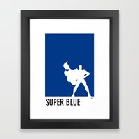 My Superhero 03 SuperBlue Minimal poster Framed Art Print