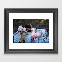 Just A Little Kiss Framed Art Print
