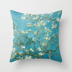 Almond Blossoms by Vincent van Gogh Throw Pillow