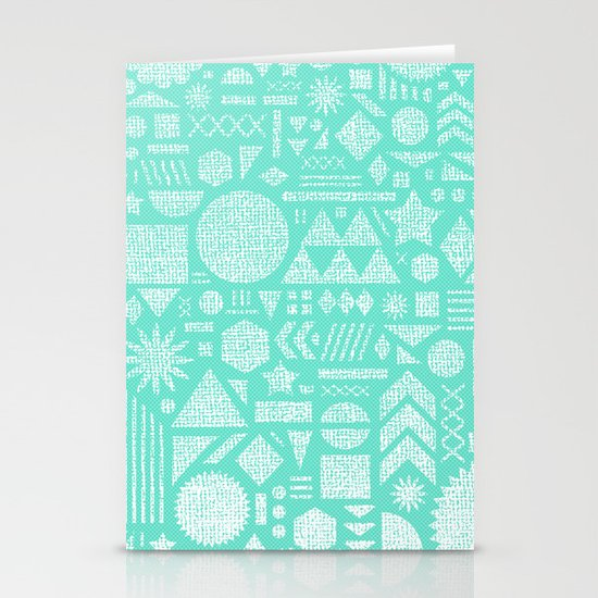 Modern Elements with Turquoise Stationery Card