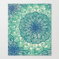 Canvas Print featuring Emerald Doodle by micklyn