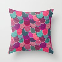 Fish Scales And Mermaid … Throw Pillow
