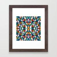Geo Outline Colour Framed Art Print