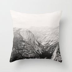 Yosemite Beauty (b&w)  Throw Pillow