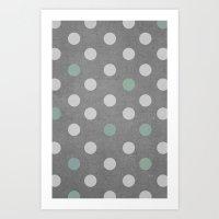 Concrete & PolkaDots Art Print