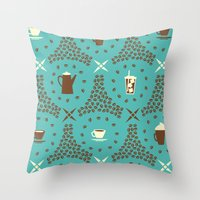 Coffee Hour Throw Pillow