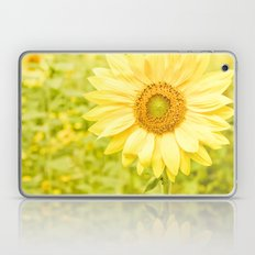 Smiling sunflower Laptop & iPad Skin