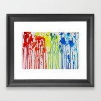 The Drip Framed Art Print