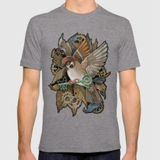 Clockwork Sparrow Mens Fitted Tee Tri-Grey SMALL