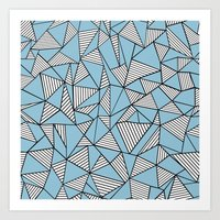 Ab Blocks Blue #2 Art Print