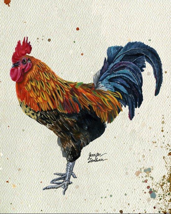 Rooster Harlow Art Print