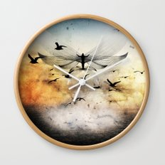 salute the morning Wall Clock