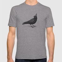 Rocking Raven Mens Fitted Tee Athletic Grey SMALL