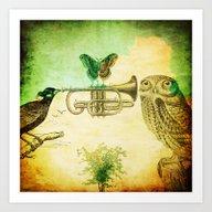 Music Of Birds Art Print