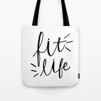 Fit Life - fitness Hand lettering Tote Bag