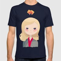 Vote Knope Mens Fitted Tee Navy SMALL