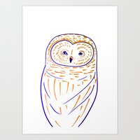 The Owl. Owl art, owls, owl print, owl illustration, nature, animals, children's  Art Print