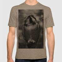 Owl series no.1 Mens Fitted Tee Tri-Coffee SMALL