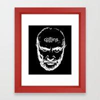 Phil Collins Glitch Framed Art Print