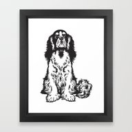 Innocent Dog Framed Art Print