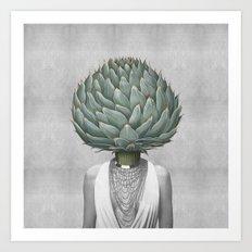 artichoke head Art Print