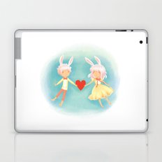 Bunny Hearts Laptop & iPad Skin