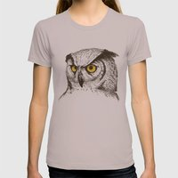 Owl Womens Fitted Tee Cinder SMALL