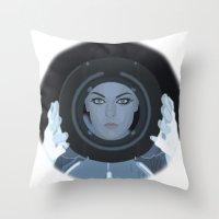 Siren / Tron: Legacy Throw Pillow