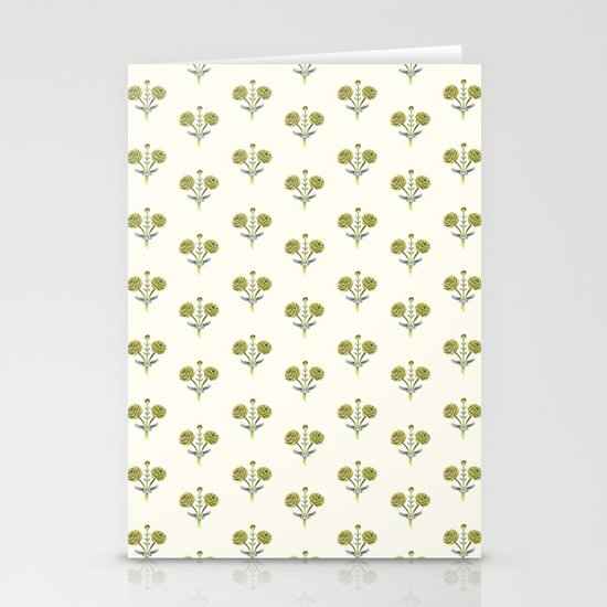 Butter Peonies Stationery Card