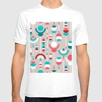 Tulip Tumble Mens Fitted Tee White SMALL