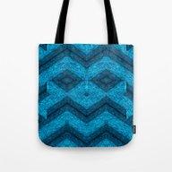 Blue Mask Tote Bag