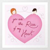 Rose of my heart Art Print