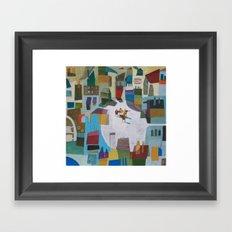 street quartet Framed Art Print
