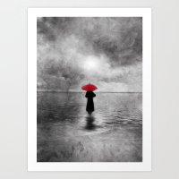 Waiting In The Sea II  -… Art Print