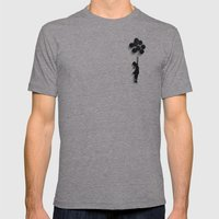 Banksy Fly Away  Mens Fitted Tee Athletic Grey SMALL