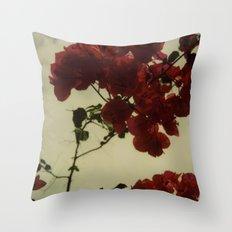 Floral Formula Polaroid Throw Pillow