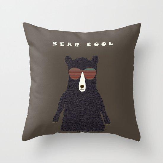 bear cool Throw Pillow