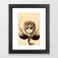 Viking Girl Framed Art Print