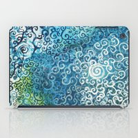 Swirly Deep Blue Sea iPad Case