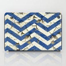 Peeling Chevrons Blue iPad Case