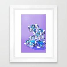 Pile Of Tailgates Framed Art Print