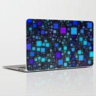 Post It Blue Glow Laptop & iPad Skin